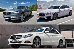 Седаны бизнес-класса Volvo S90, Jaguar XF Mercedes-Benz E200