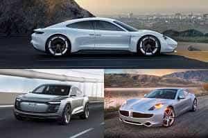 Электромобили 2018 года Porsche Mission E, Audi E-Tron, Fisker EMotion