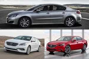 Седаны D-класса Hyundai Sonata, Mazda 6, Peugeot 508