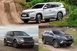 Комфортные внедороджники Mitsubishi Pajero Sport, Toyota Fortuner, land Rover Discovery