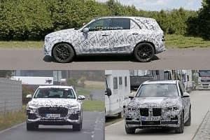 Mercedes-Benz GLE, BMW X5, Audi Q8