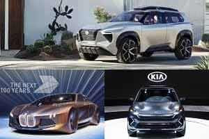 BMW iNext, Nissan Xmotion, Kia Niro Concept