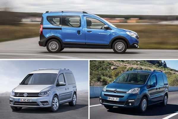 Renault Dokker, Volkswagen Caddy, Citroen Berlingo Multispace