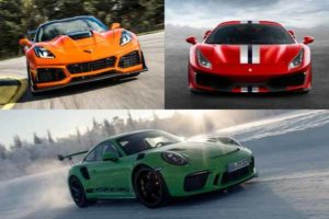 Chevrolet Corvette, Ferrari Dino, Porsche 911 GT3