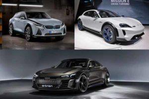 BMW i5, Porsche Taycan Cross Turismo, Audi e-tron