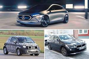 Mercedes-Benz EQA, Fiat 500, BMW iX2