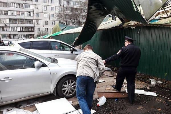 Последствия шторма в Москве