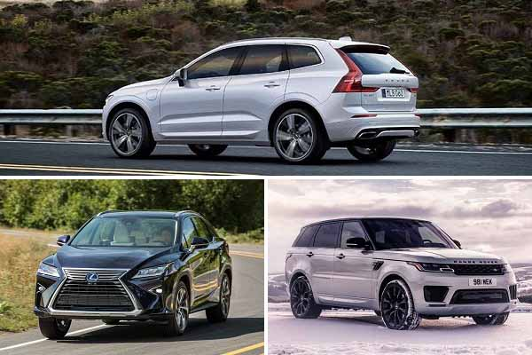 Гибриды Volvo XC60, Lexus RX, Range Rover Sport