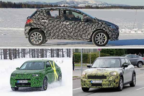 Toyota Yaris Cross, Opel Mokka X, MINI Countrymen