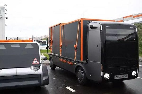 Автономный грузовикна водородном топливе