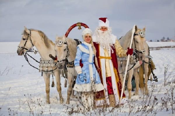 Дед Мороз на Тройке