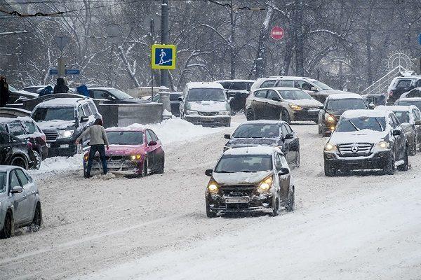 Дорога после снегопада