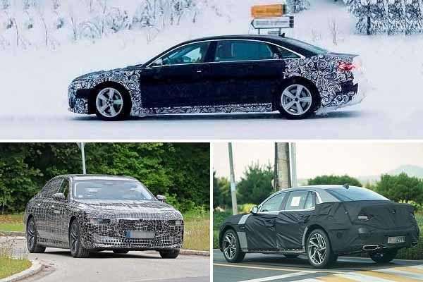 Премиальные седаны 2022 года Audi A8, BMW 7-Series, Genesis G90-min